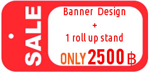 Combo Promo Banner and Roll Up Stand